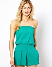 ASOS Cheesecloth Bandeau Beach Playsuit