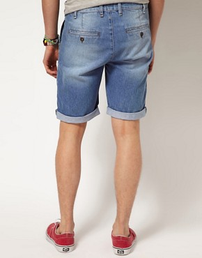 Image 2 ofASOS Denim Short In Light Blue