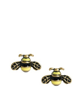 Image 1 ofCath Kidston Bumble Bee Enamel Earrings