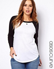 ASOS Curve - Top con maniche raglan