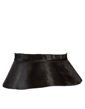 Image 4 ofASOS Leather Peplum Skirt Waist Belt