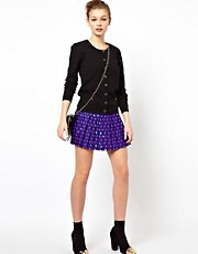 A Wear Lips Print Pleat Mini