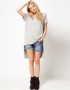 Image 1 ofASOS T-Shirt with Oversize Dip Back Hem