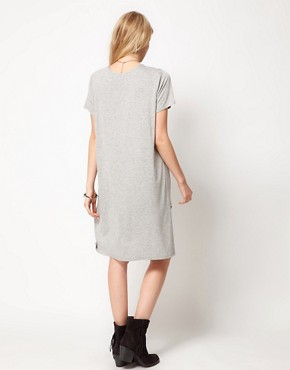 Image 2 ofASOS T-Shirt with Oversize Dip Back Hem