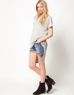 Image 4 ofASOS T-Shirt with Oversize Dip Back Hem