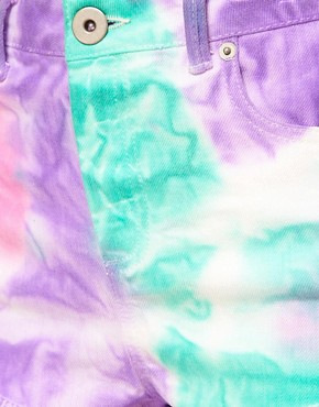 Image 3 ofASOS Denim Hotpants In Spray Dye