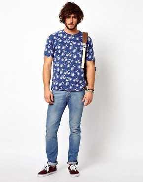 Image 4 ofPaul Smith Jeans T-Shirt with Palm Tree Pattern