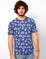 Paul Smith Jeans T-Shirt with Palm Tree Pattern