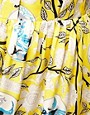 Image 3 ofASOS CURVE Exclusive Midi Skirt In Yellow Print