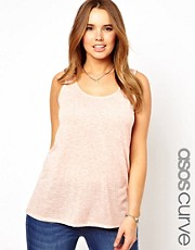 Esclusiva ASOS CURVE - Top in jersey scampanato