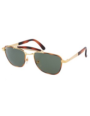 Image 1 ofReclaimed Vintage Clubmaster Sunglasses