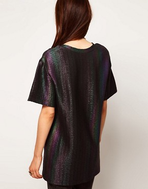 Image 2 ofASOS T-Shirt in Rainbow Hologram
