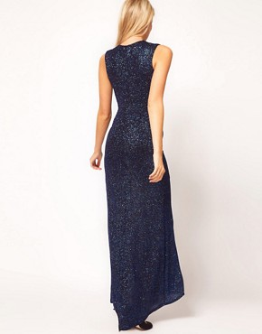 Image 2 ofASOS PETITE Exclusive Maxi Dress With Deep V Plunge Neck