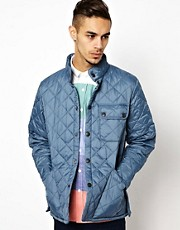 Barbour Quilted Jacket with Stand Collar