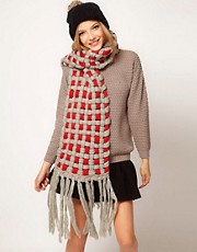 ASOS 3D Check Oversized Scarf