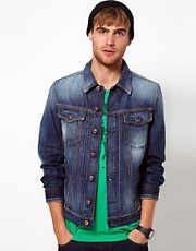 Diesel - Elshar - Giacca di jeans con lavaggio vintage