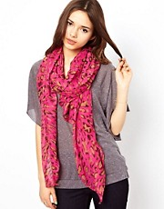 Liquorish Pink Leopard Print Scarf