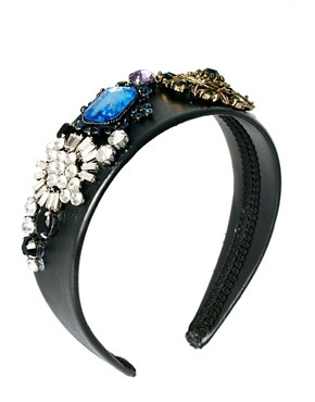 Image 2 ofRiver Island Jewel Encrusted Alice Band