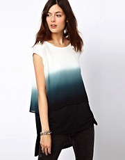 2nd Day Dip Dyed Tunic Top