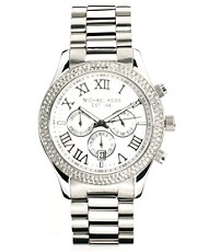 Michael Kors Silver Crystal Chronograph Watch
