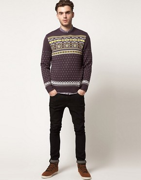 Image 4 ofFarah Vintage Fairisle Jumper