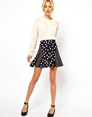 ASOS Skater Skirt in Mix and Match Spots