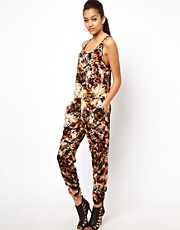River Island Animal Print Jumpsuit