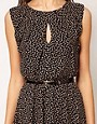 Image 3 ofWarehouse Bow Print Mini Dress
