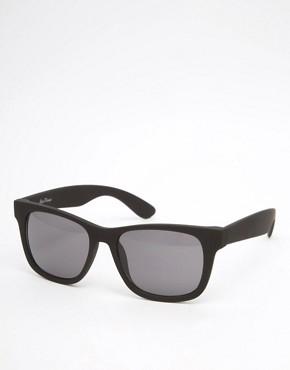 Black Phoenix Square Sunglasses In Matt Black