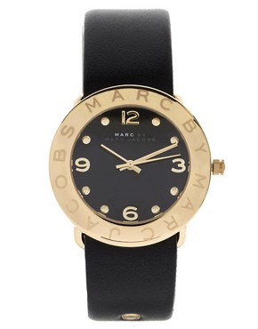 Image 1 ofMarc By Marc Jacobs Leather Watch