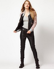 Urban Code Leather Mix Pants