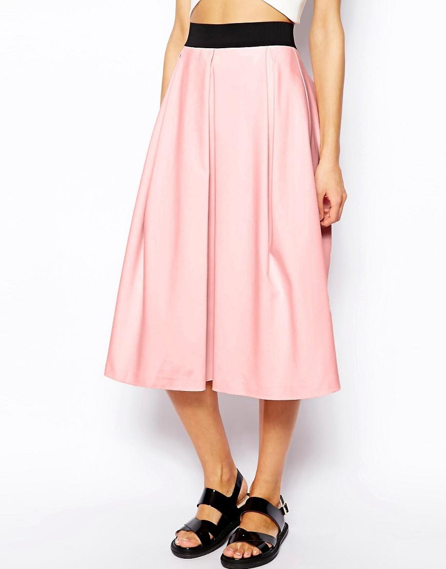 Image 4 ofRiver Island Box Pleat Midi Skirt