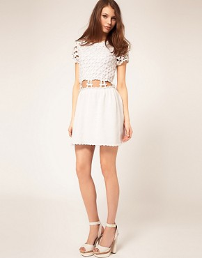Image 4 ofASOS Crochet Village Fit and Flare Dress