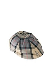 Barbour Check Flat Cap