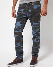 ASOS Slim Jeans In Bleached Camo