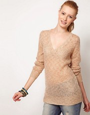 Oasis Sparkle V Neck Jumper