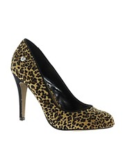 Blink Leopard Faux Suede Heeled Shoe