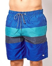 Ted Baker Multi Stripe Swim Shorts