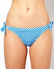 ASOS Gingham Bunny Tie Side Bikini Pant