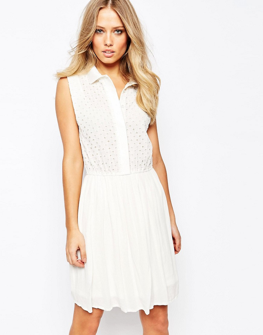 Y.A.S Square Dress - White