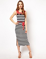 French Connection Stripe Mix Maxi Dress