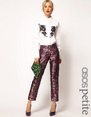 ASOS PETITE Exclusive Trousers In Oriental Jacquard