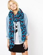 ASOS Leopard Print On Oversized Scarf