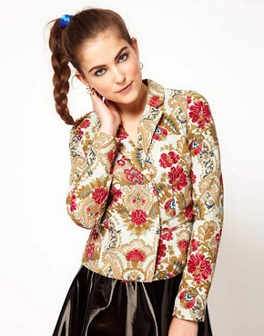Image 1 ofManoush Floral Print Jacket