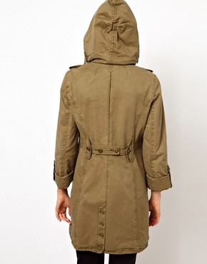 Image 2 ofJuicy Couture Miltary Hooded Jacket