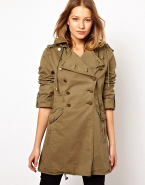 Image 1 ofJuicy Couture Miltary Hooded Jacket