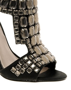 Image 3 ofMiss KG Isabella Jewelled Zip Back Sandals