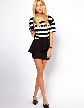 Image 1 ofAime by People Tree Organic Cotton Peplum Mini Skirt