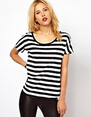 Mango Bold Stripe T-Shirt