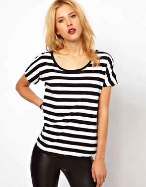 Image 1 ofMango Bold Stripe T-Shirt